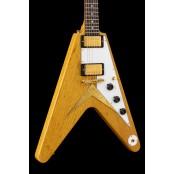 Gibson Custom Shop 1958 Korina Flying V Reissue Natural w/White Pickguard