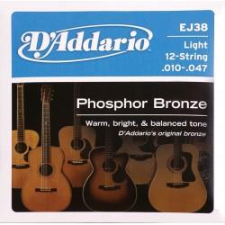 D'Addario snaren Phosphor Bronze EJ38 12 snarig