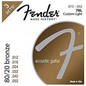 Fender 70L 80/20 Bronze 3pack 12-52