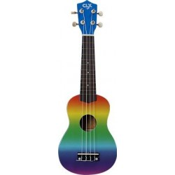 CLX Calista Ukulele Sopraan Rainbow Air