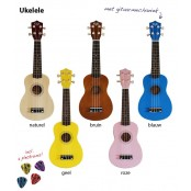 CLX Ukulele Sopraan Brown