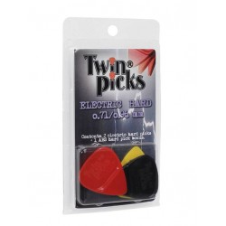 Twinpick duo pack, 2x dubbel plectrum, electric hard