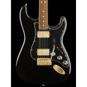 Fender Mahogany Blacktop Stratocaster Black Gold PF
