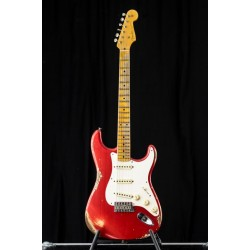 Fender Custom Shop 55 Strat Heavy Relic MN Candy Apple Red