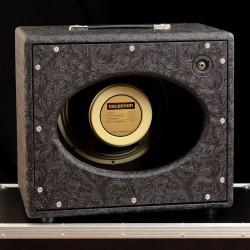 Kool Open Back 1x12 Cabinet Black Rose Tolex Celestion G12H75 8ohm