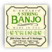 D'Addario snaren J60 banjo