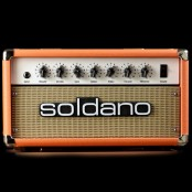 Soldano astroverb 16 head orange w/wheat grill/nickel hardware