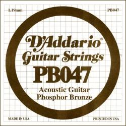 D'Addario losse snaar Phosphor Bronze 047