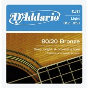 D'Addario snaren Bronze Light EJ11