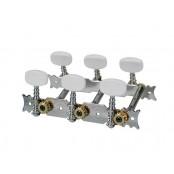 stemmechanieken voor klassieke gitaar, metalen as, 3x links+3x recht, 70mm