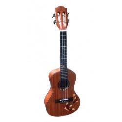 Leho ukulele Concert C-LMT-FSH incl bag