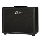 Suhr 1x12 speaker cabinet, graphite tolex, black silver grill WH V30