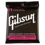 Gibson Masterbuilt Premium Acoutic Strings, 80/20 Bronze (Ultra Lights)