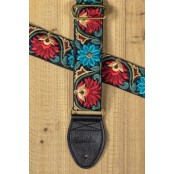 Souldier Guitarstrap Flower Black