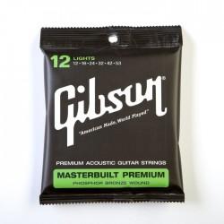Gibson Masterbuilt Premium Acoustic Strings, Phosphor Bronze (Lights)