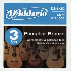 D'Addario snaren Phosphor Bronze EJ16-3pack
