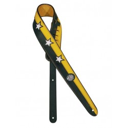 Gaucho gitaarband black/yellow stars