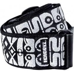 Dunlop Gitaarband  Jimi Hendrix Logo Black & White