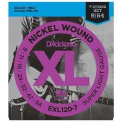 D'Addario snaren elektrisch EXL120-7
