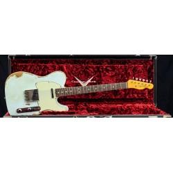 Fender Custom Shop 63 Double Bound Telecaster Heavy Relic Sonic Blue