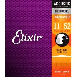 Elixir Nanoweb Bronze Custom Light
