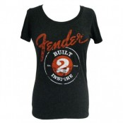 Fender ladies shirt built 2 inspire black  M