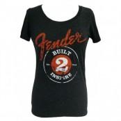 Fender ladies shirt built 2 inspire black  M