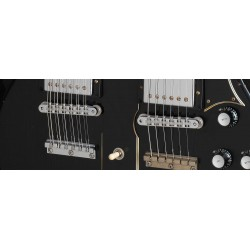 Gibson Custom Slash Signed 1966 EDS 1275 Doubleneck Replica Aged Ebony CH