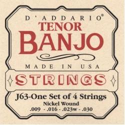 D'Addario snaren J63 tenor banjo