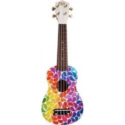 CLX Calista Ukulele Sopraan Rainbow Drips