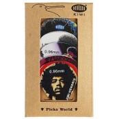 Kiwi Plectrum Set Jimi Hendrix