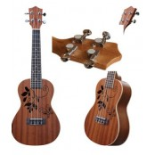 Calista Concert Ukulele Deluxe Leaves Dark
