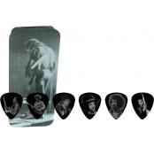 Dunlop 12 plectrums in blikje Jimi Hendrix Silver Portrait Medium