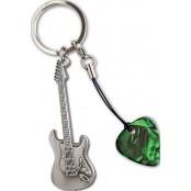 Grover Allman sleutelhanger gitaar met plectrum Stratocaster