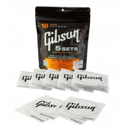 Gibson 5-Pack of Brite Wire Electric Strings (Lights)
