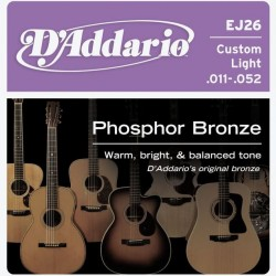 D'Addario snaren Phosphor Bronze Custom Light EJ26