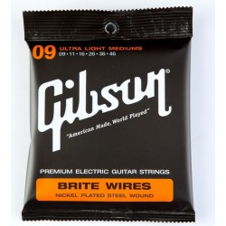 Gibson Brite Wire Electric Strings (Ultra Light Mediums)