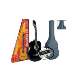 A.martinez gitaar klassiek 82PB 1/2 met hoes black