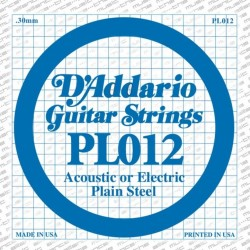 D'Addario losse snaar plain steel 012