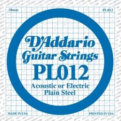 D'Addario losse snaar plain steel 012
