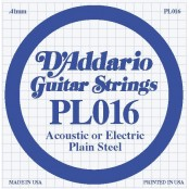 D'Addario losse snaar plain steel 016