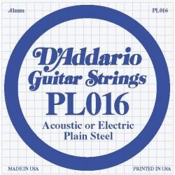 D'Addario losse snaar plain steel 016