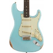 Fender Custom Shop Limited edition 1960 Stratocaster, relic, faded aged daphne blue preorder