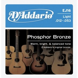 D'Addario snaren Phosphor Bronze Light EJ16