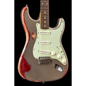 Fender Custom Shop 1960 Stratocaster Heavy Relic Shoreline Gold Over Candy Apple Red