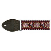 Souldier Guitarstrap Hendrix Bourgundy White DarkBrown End