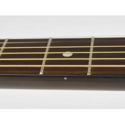 Nashville dreadnought guitar, blackened fb & bridge, diecast machine heads, sunburst