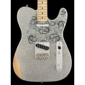 Fender Brad Paisley Road Worn Telecaster Silver Sparkle MN