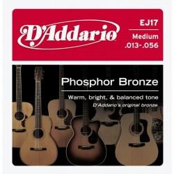D'Addario snaren Phosphor Bronze EJ17