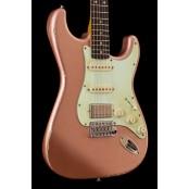 Kauffmann Guitars 63S HSS Burgundy Mist Heavy Relic